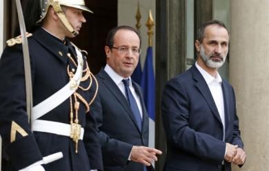 26DIC12 02 Hollande_Moaz-Al-Khatib_elysee-f7421