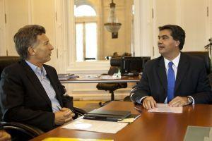 Jorge Capitanich recibe a Mauricio Macri
